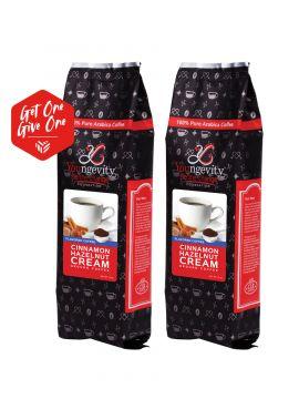 Be The Change Coffee - Cinnamon Hazelnut Cream - 12oz Ground [QTY: 2   Get One, Give One FREE]