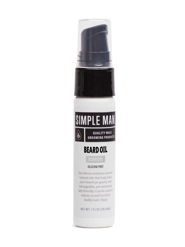 Simple Man Scentless Beard Oil