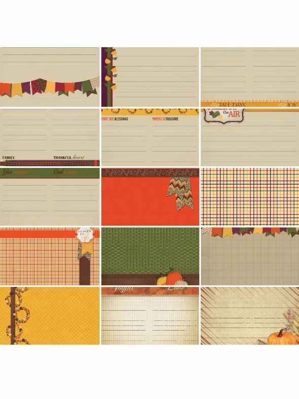 Thanksgiving Bountiful Blessings Journal/Mounting Cards