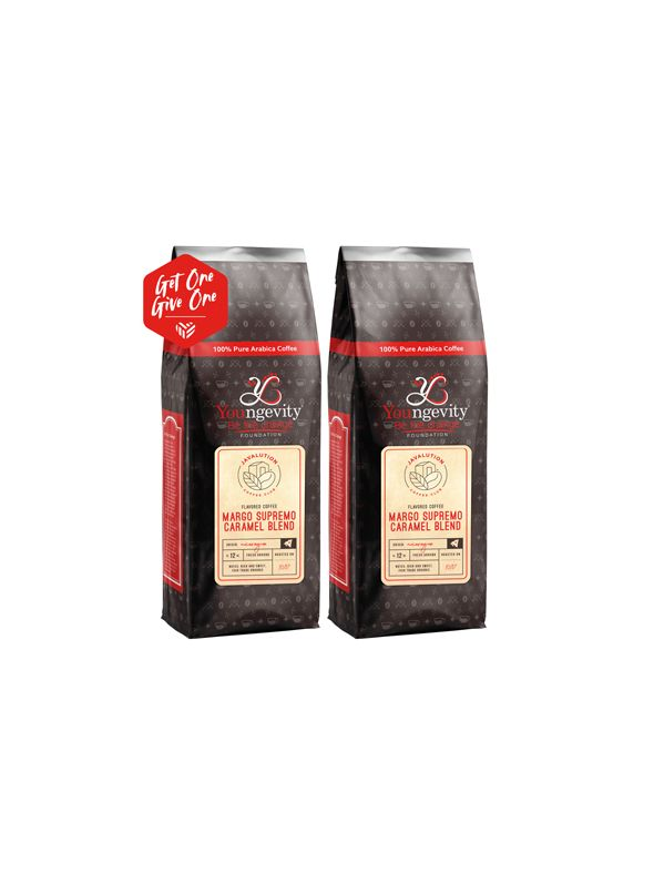 Javalution Club Caramel Flavored Margo Supremo Coffee Limited Edition—Nicaragua Ground (12oz) [QTY: 2   Get One, Give One FREE]