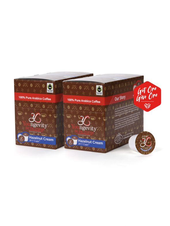 Be The Change Coffee - Hazelnut Cream - Y-Cups 24ct [QTY: 2 | Get One, Give One FREE]